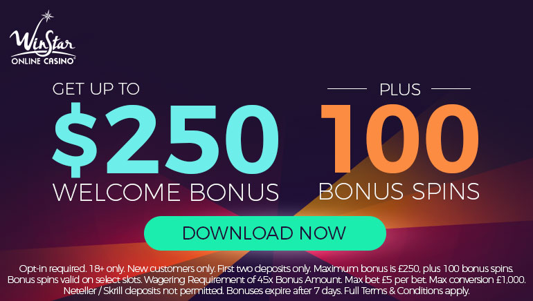 WinStar Casino Electrifies the Crowds with up to $250 Welcome Bonus