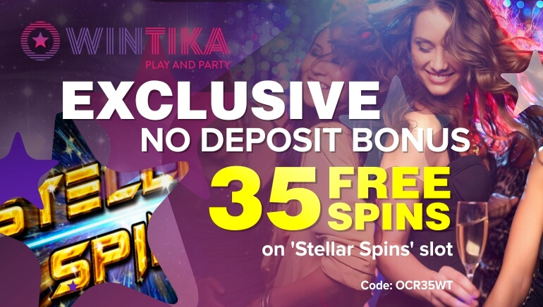 Exclusive Welcome at Wintika Casino with 35 No Deposit Free Spins