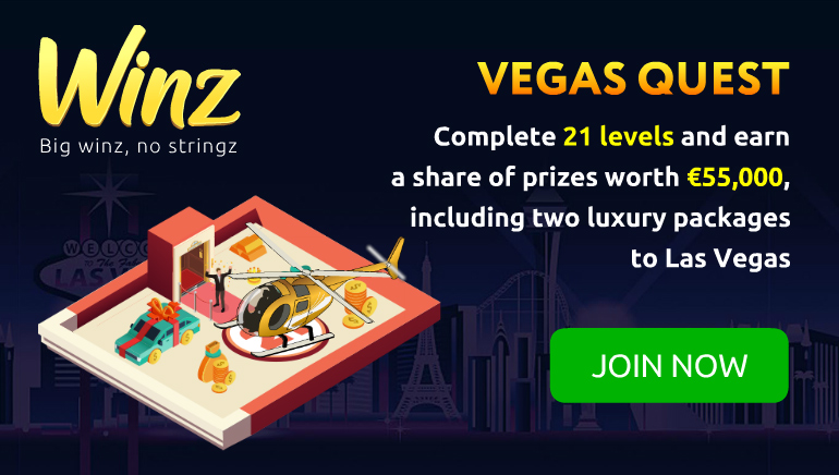 Winz Casino Giving Away Holidays in Vegas Slot Quest
