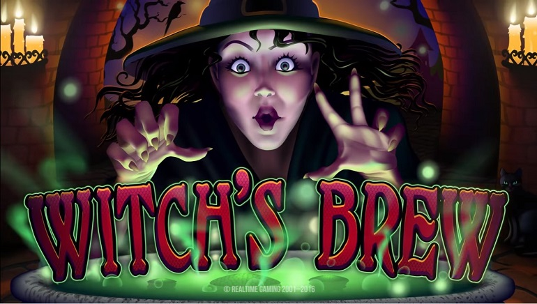 New Halloween-Themed Slot From Real Time Gaming: Witch's Brew