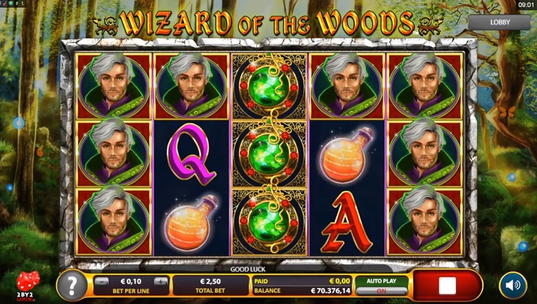 2by2 Gaming Casts a Spell and Creates Wizard of the Woods Slot