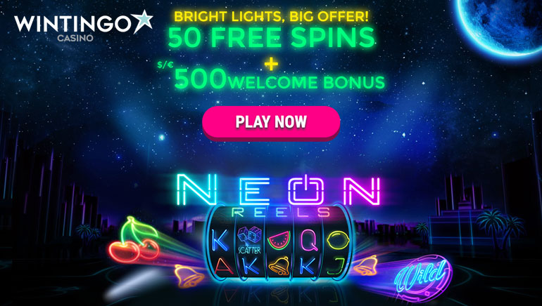 Get 50 Free Spins on Neon Reels at Wintingo Casino