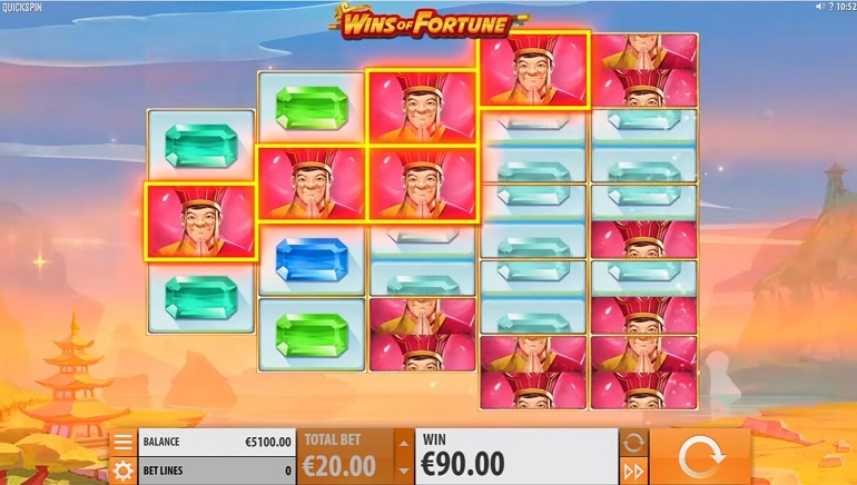 Playing Quickspin's New Wings of Fortune Slot