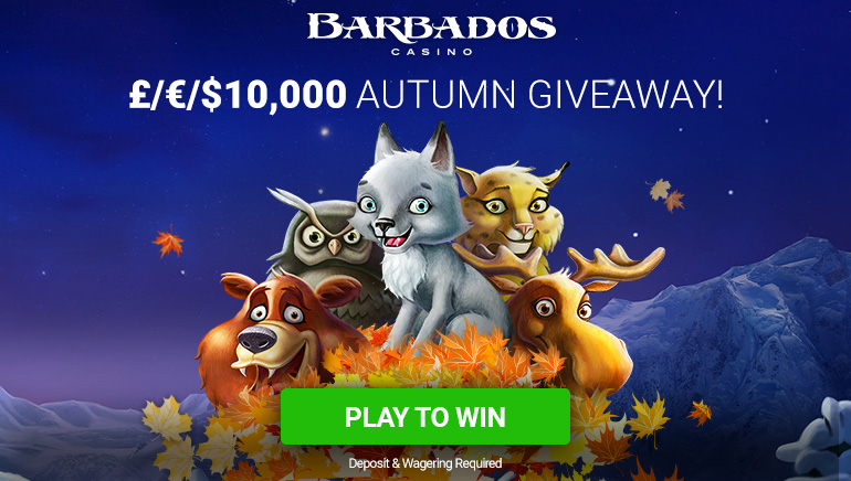 Embrace the Autumn with Barbados Casino's $10,000 Giveaway