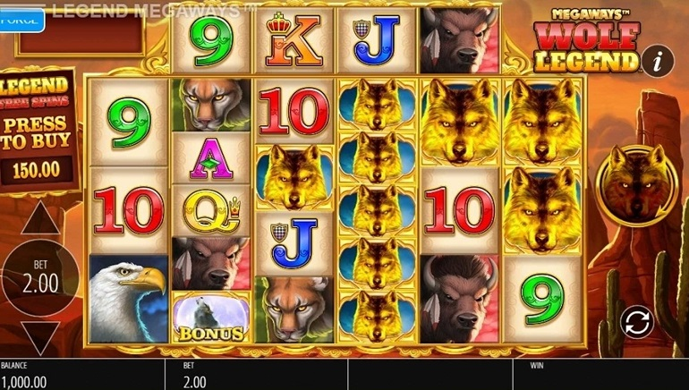 Playing Blueprint Gaming's Wolf Legend Megaways Slot