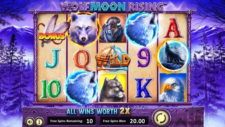 BetSoft's Wolf Moon Rising Slot Howls into Action