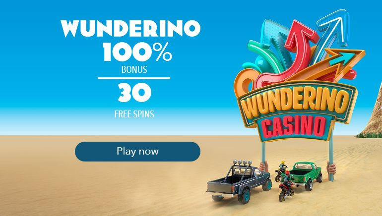 Start at Wunderino With 100% and 30 Freespins