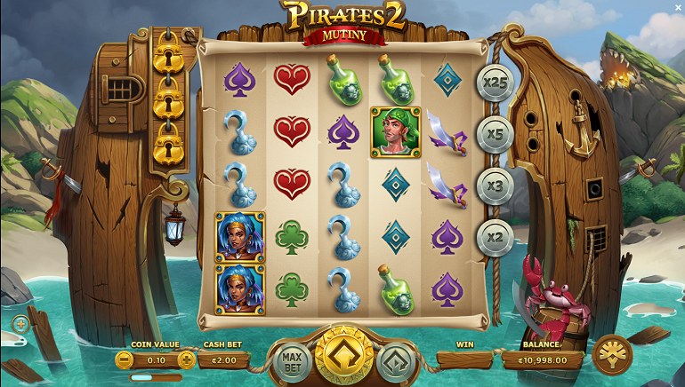 Pirates 2 Mutiny Slot Arrives from Yggdrasil Gaming