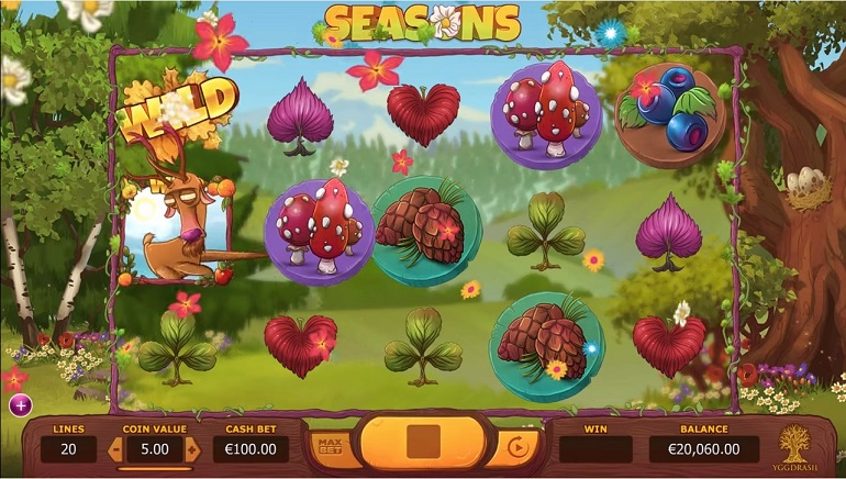 Yggdrasil Launches Unique Seasons Video Slot