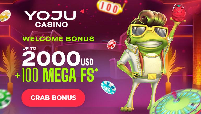 YOJU Casino - Welcome Bonus up to USD2000 +100 mega free spins. Grab Bonus!
