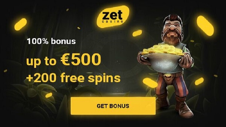 €500 Welcome Bonus & 200 Free Spins Await You at Zet Casino