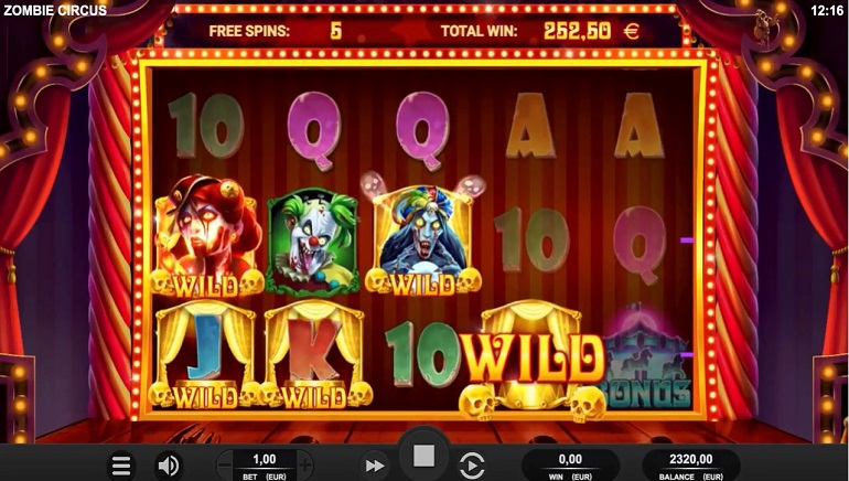 Zombie Circus Slot Launched By Relax Gaming